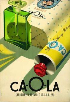 Ca-O-La toiletries advertisement, Szilas Győző Dátum, 1960