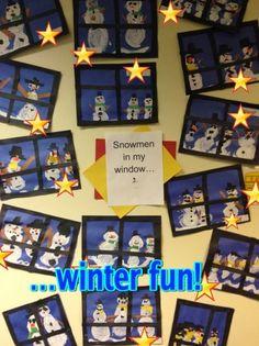 Snowmen in my window! Painted snowmen project!