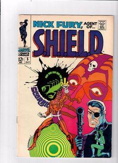 Nick Fury Agent of Shield 5 Steranko Cover 1968 Marvel Comics F VF Nick Fury, Marvel Comics, Marvel Comic Books, Marvel Heroes, Marvel Art, Silver Age Comics, Marvel Girls, Deathstroke, Best Comic Books