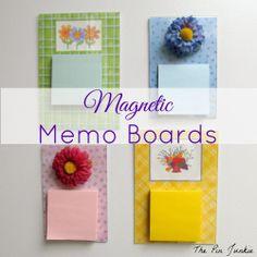 DIY Magnetic Memo Boards