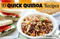 10 Quick Quinoa Recipes via @SparkPeople