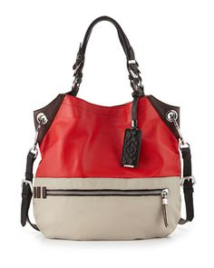 Sydney Colorblock Tote Bag, Berry Multi by Oryany at Neiman Marcus.