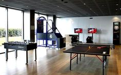 The Team's Residence Real Madrid City, Ping Pong Table, Luxury, Home Decor, Decoration Home, Room Decor, Home Interior Design, Home Decoration, Interior Design
