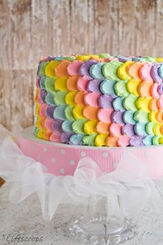 Life Scoops: Rainbow Polka Dot Cake / Vanilla cake with Lemon Swiss Meringue Buttercream @Shema George