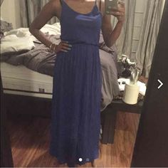 Blue maxi dress No trades Ships next day New not negotiable  Can fit small as well H&M Dresses Maxi