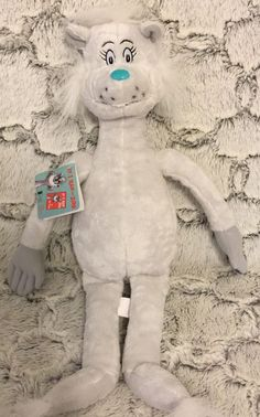 DR. SEUSS IF I RAN THE ZOO GRAY CAT NATCH KOHLS CARES FOR KIDS PLUSH 17 Inches #KohlsCaresForKids