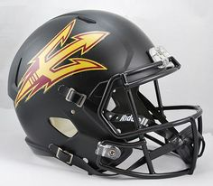 Arizona State Sun Devils Riddell Deluxe Replica Speed Helmet - Black