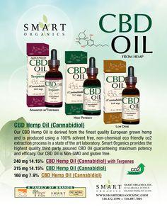 #CBD #OILS @ #Smart #Organics! 516-432-1590 or 516-897-7001