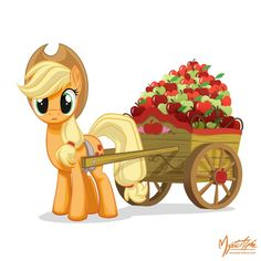 Applejack - Apple Cart by *mysticalpha on deviantART