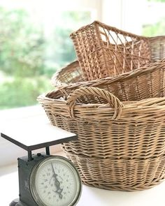 Farmhouse Baskets, Wicker Baskets, Picnic, Texture, History, Beauty, Instagram, Cottage, Home Decor
