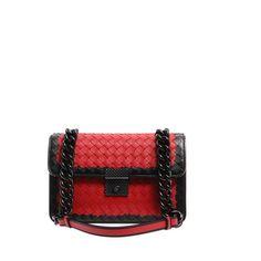 BOTTEGA VENETA Bi-colour intrecciato leather shoulder bag found on Polyvore