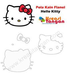 Pola Kain Flanel Hello Kitty