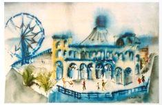 Santa Monica Pier Art Print by laurimatisse Matisse Paintings, Santa Monica, Fine Art, Art Prints, Fun, Fashion, Art Impressions, Fashion Styles, Fine Art Prints