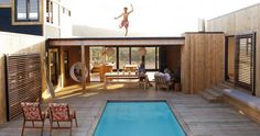 Pool in Courtyard of U-Shaped South African Home via Cush and Nooks