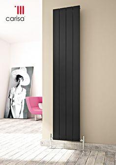 CARISA NEMO BLACK VERTICAL DESIGNER RADIATORS
