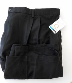 Men's Black Shorts Haggar Comfort Fit Size 52 New All Poly Big Tall Quality  #Haggar #FlatFront Sold