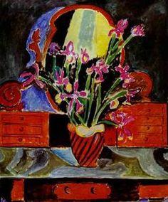 Vase d iris - (Henri Matisse)