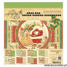 """Novidades Graphic 45 - É uma das marcas que mais gostamos!!!!! As suas colecção são sempre super originais, bonitas e inovadoras. Os packs de papel estão disponíveis nas medidas 12"""" x 12"""" e 8""""x 8"""". Veja todas as novidades aqui: http://www.lembrancassoltas.pt/it-index-n-Graphic_45-cPath-635.html"""