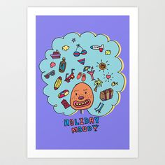 Holiday Mood!  Art Print by PINT GRAPHICS - $17.00