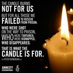 The candle is still part of Amnesty International logo.