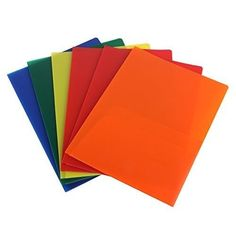 Plastic Pocket Folders Letter Size Papers Files Documents Home Office Organizer #HomeOfficeSupplies
