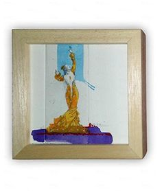 Mantilla Amarilla con marco - Flamenca