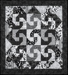 """= free pattern = Escargot quilt, ~37"""" square, by Debbie Beckwith Graves for Studio E Fabrics (PDF download) 