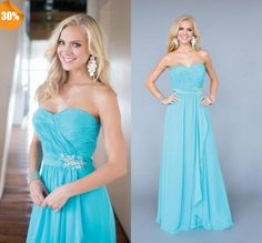 Wholesale Bridesmaid Dress - Buy Fashionable 2015 Maid of Honor Dress A-Line Sweetheart Backless Beads Crystals Pleats Long Chiffon Prom/Bridesmaid Dresses, $65.62 | DHgate