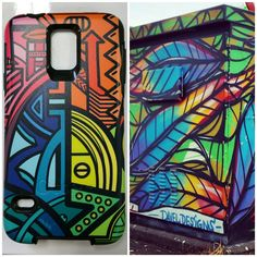 """Left is designed Otter Box case. Right is #daveldesigns box on Communipaw - total serendipity #PicsArt"""