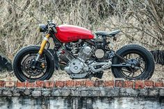 Red Cafe Racer Beast