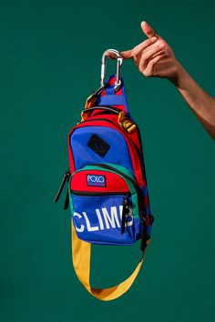 """Ralph Lauren Reissues Its Iconic """"Polo Hi Tech"""" Collection Pop Art Fashion, Fashion Bags, Jansport Backpack, Backpack Bags, Computer Backpack, Outdoor Backpacks, Cute Backpacks, Favor Bags, Small Bags"""