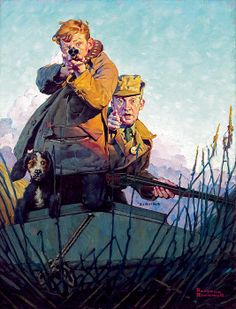 Norman Rockwell - His First Duck, 1922