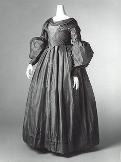 Dress  Date: 1843 Culture: American Medium: silk