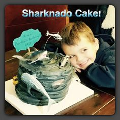 Sharknado cake!! Shark Birthday Cakes, Birthday Fun, Backyard Movie Nights, Shark Party, Under The Sea Party, Movie Themes, Cute Cakes, Party Cakes, Sharknado 4