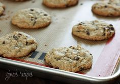 I am SO excited to share this Skinny Chocolate Chip Cookie recipe with all of you!! I didn't think it possible to make a low-fat chocolate chip cookie that was soft and chewy in the center with just the right amount of crunch on the edges, and made with half whole wheat flour and only two tablespoons of butter in the entire batch!     Trust me, I've tried many recipes and the results were just ok, some were cake-y which I don't particularly care for in a cookie, and sometimes too crispy…