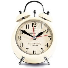 Newgate Covent Garden Small Clock - Cream (170 ARS) ❤ liked on Polyvore featuring home, home decor, clocks, fillers, decor, battery powered clock, digital clock, lcd clock, newgate and battery operated clock