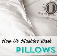 When was the last time you washed your pillows? It is easy to machine wash pillows, check it out.
