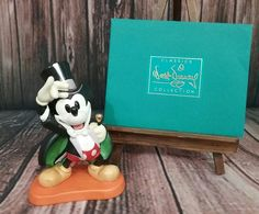 """WDCC walt disney classics collection """"On with the Show"""" Magician Mickey 1997 COA #Disney"""