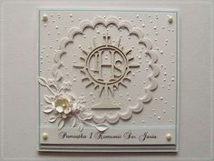 hania739: Komunijne Memory Box Dies, Exploding Boxes, First Holy Communion, Handmade Wedding, Baby Cards, Christening, Wedding Engagement, Wedding Cards, Greeting Cards