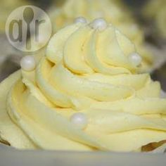 USE THIS ONE. Recipe photo: Lemon buttercream icing (4 c powdered sugar, 1/2 c +2 tbs butter