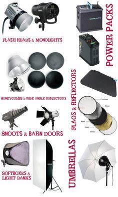 Professional studio photography lighting: photography lighting equipment