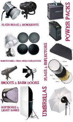 Professional studio photography lighting: photography lighting equipment