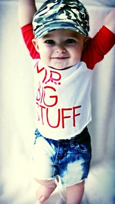 Mr. Big Stuff™ Baby and Toddler Boy TShirt Clothes, Clothing, Outfit, Raglan Tee. Great Baby Gift Idea. Liv & Co.™ - Liv & Co.