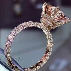 Dream Engagement Rings, Rose Gold Engagement Ring, Morganite Engagement, Engagement Ideas, Halo Engagement, Tiffany Engagement, Wedding Rings Rose Gold, Sparkle Wedding, Wedding Bands