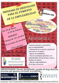 PROGRAMA ORIENTACIÓN Y COACHING PARA EL FOMENTO DE LA EMPLEABILIDAD. Centro de Juventud Esplai SONSECA. (Toledo)