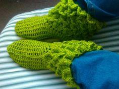Zapatillas descanso verde
