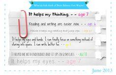 What do kids think of Brain Balance FW? June 2013