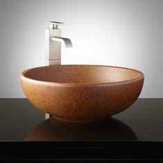 Coffeen Hand-Glazed Pottery Vessel Sink - Deep Sienna