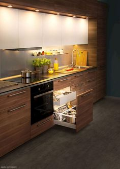 There is a lot of people today, tend to have modern kitchen design ideas for their new house. However, there is a lot of things that you need to know before creating modern kitchen design. Kitchen Design Small, Kitchen Cabinetry, Kitchen Cabinets, Kitchen Remodel, Kitchen Decor, Contemporary Kitchen, Contemporary Kitchen Interior, Modern Kitchen Design, Kitchen Design