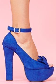 Vivian Platform in Blue- blue or red there both so nice